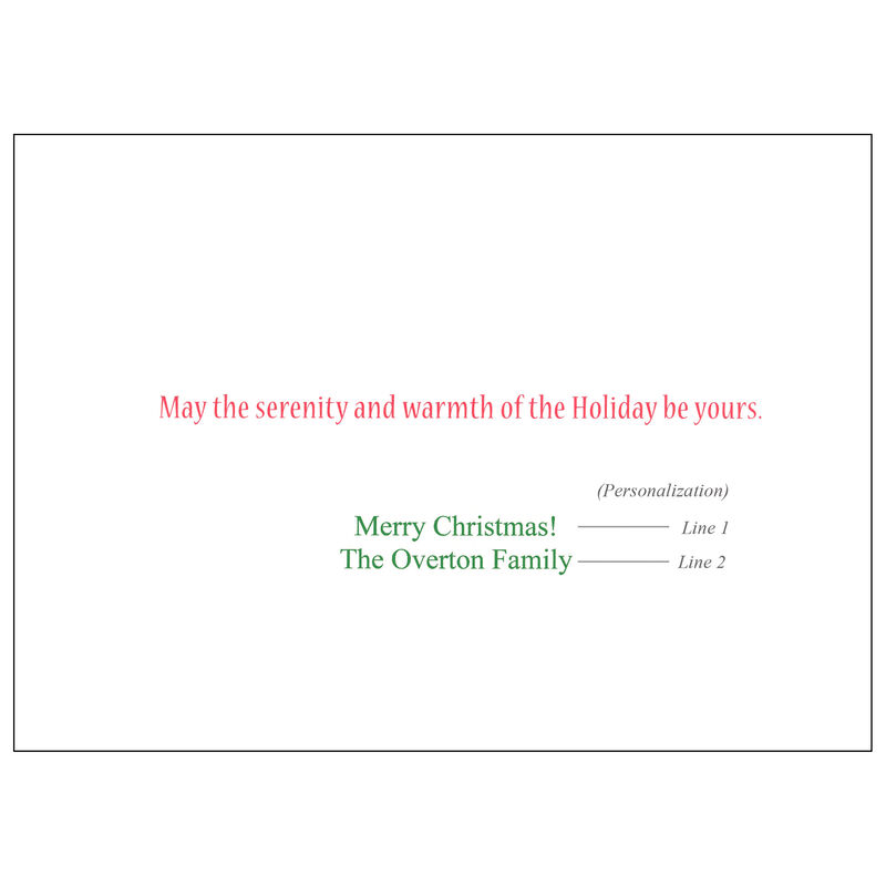 Personalized Lakeside Cabin Christmas Cards image number 2