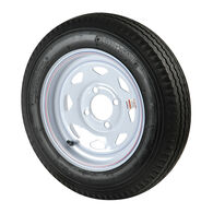 Kenda Loadstar 4.80 x 12 Bias Trailer Tire w/4-Lug White Spoke Rim