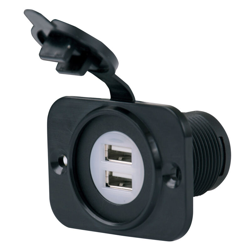 Marinco SeaLink Deluxe Dual USB Charger Receptacle image number 1