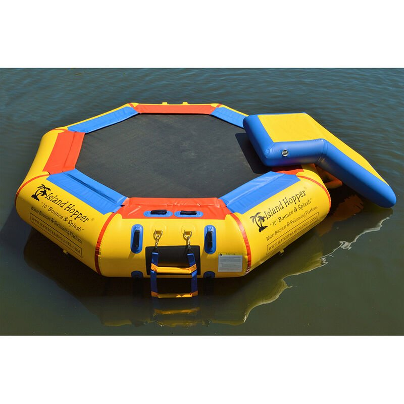 Island Hopper 10' Bounce-N-Splash Bouncer With Slide image number 3