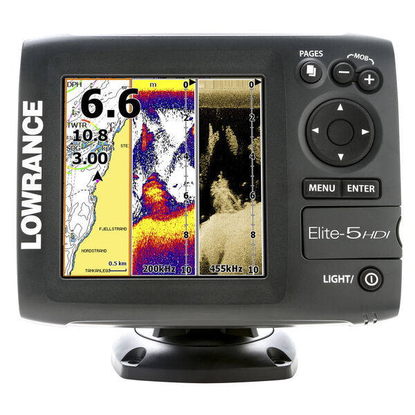 Lowrance Elite-5 HDI Fishfinder/Chartplotter With Suncover