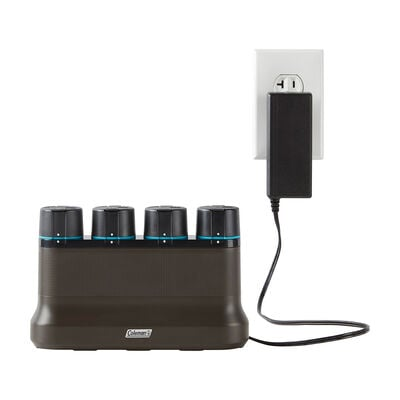 Coleman OneSource Rechargeable Lithium-Ion Battery (Pack of 4) & 4-Port Quick-Charging Station