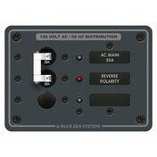 Blue Sea 120V AC Main + 1 Position Circuit Breaker Panel
