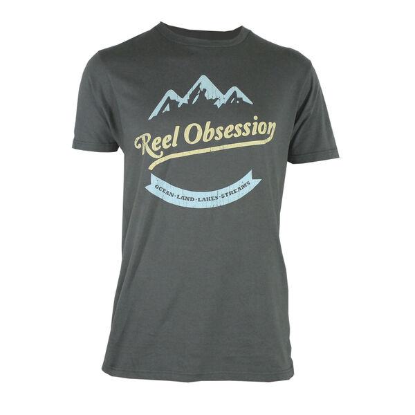 Reel Obsession Men's Mountain Scene Short-Sleeve T-Shirt