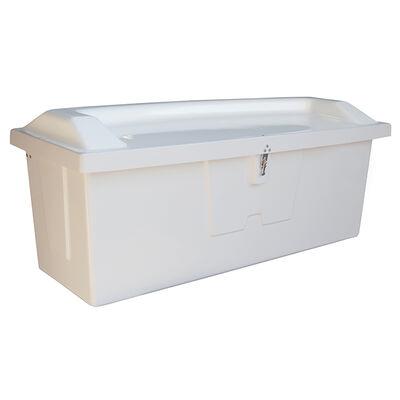 "Stow 'N Go Fiberglass Dock Box White Top Seat (30""H x 73""W x 28.25""D)"