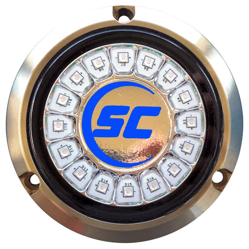 Shadow-Caster Single-Color Bronze Underwater Light – 16 LEDs, Ultra Blue image number 1