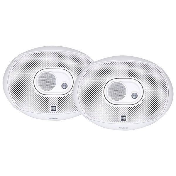 """Dual DMS369 6"""" x 9"""" 3-Way Marine Speakers"""