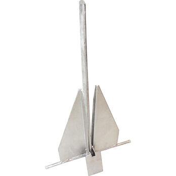 Fluke-Style Galvanized Boat Anchor, 25 lbs.