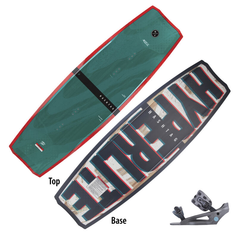 Hyperlite Hashtag Wakeboard With System Lowback Bindings image number 1