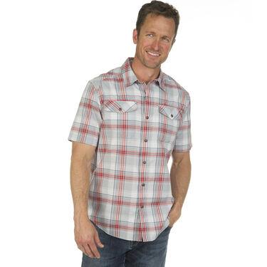 Ultimate Terrain Men's Essential Camp Plaid Short-Sleeve Shirt