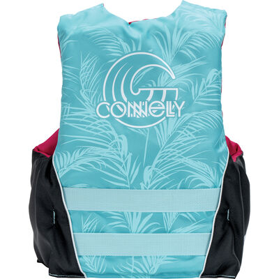 Connelly Women's Tunnel 3-Belt Nylon Life Jacket - Tropical - S