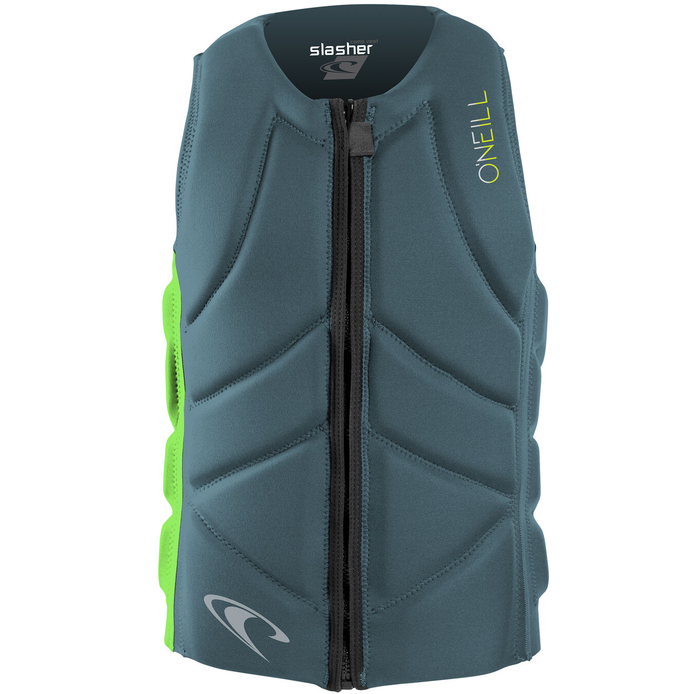 Dark Olive Black F/ácil Top ONeill Mens Slasher Comp Watersports Waterski Jetski Wakeboarding Safety Impact Vest