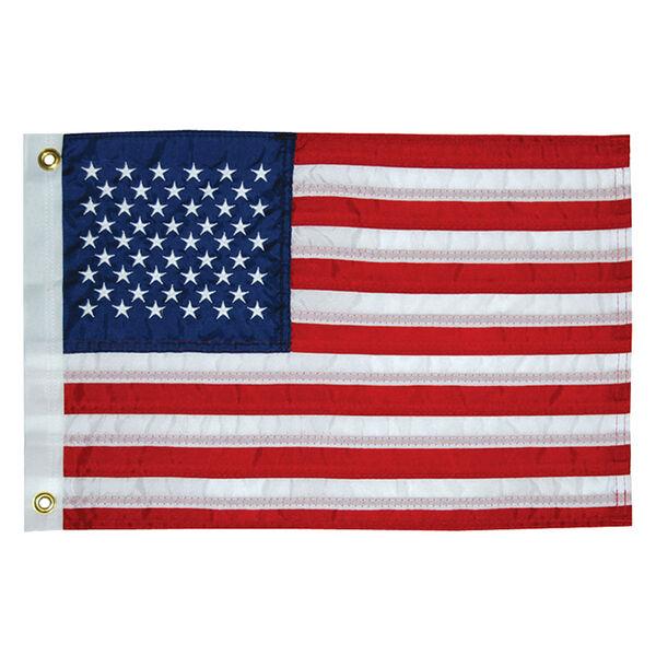 "Sewn American Flag, 12"" x 18"""