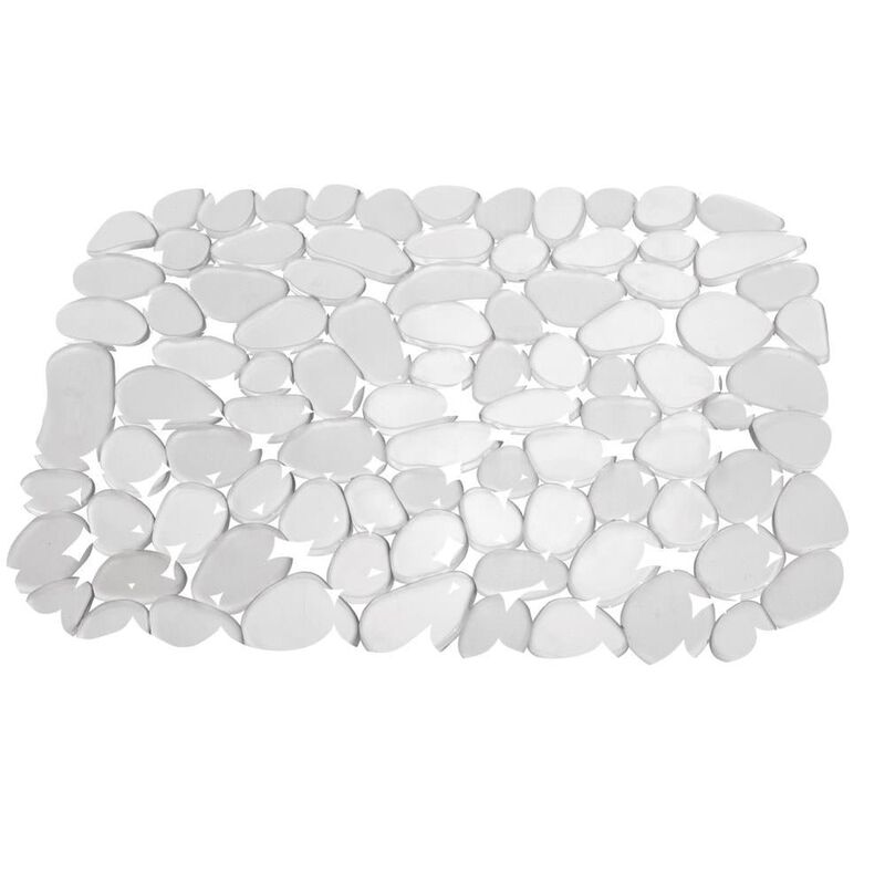 """iDesign Pebblz Sink Mat, 10-3/4"""" x 12-1/2"""" Clear  image number 1"""