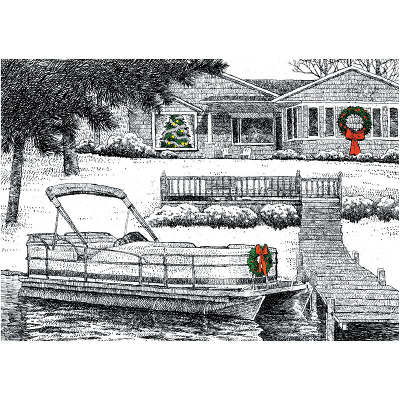 Personalized Lakeside Christmas Christmas Cards image number 1