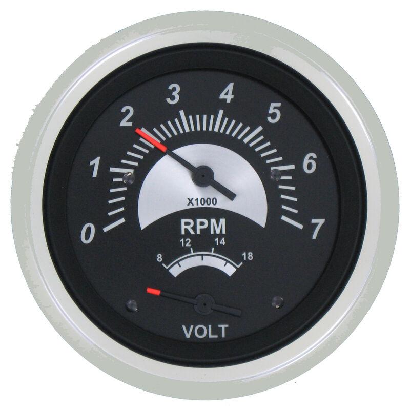 "Sierra Black Sterling 3"" Tachometer/Voltmeter image number 1"