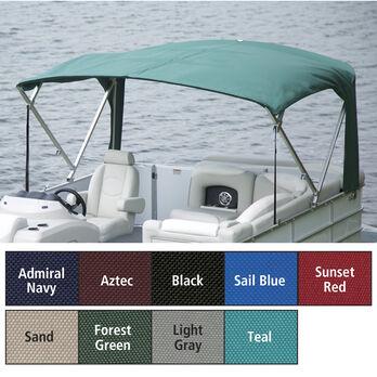 "Buggy Style Pontoon Bimini Top SurLast Polyester 1-1/4"" Standard Frame 96""-102""W"
