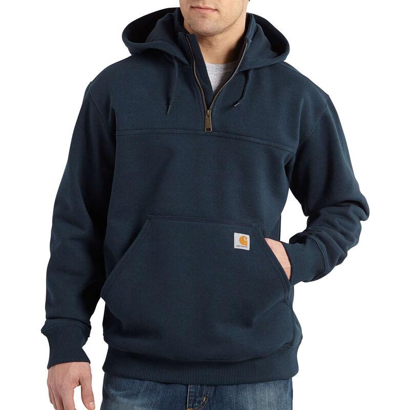 Carhartt Men's Rain Defender Paxton Heavyweight Hooded Zip Mock Sweatshirt image number 4