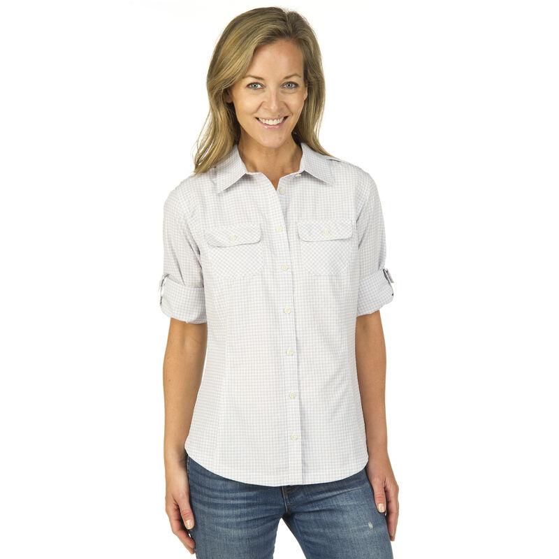 Ultimate Terrain Women's Trailhead Bug Repel Long-Sleeve Plaid Shirt image number 10