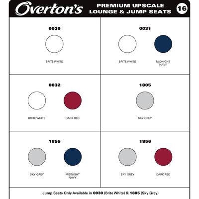 Overton's Standard/Premium Boat Seat Vinyl Sample Card