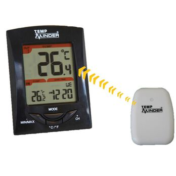 TempMinder Three-Station Wireless Thermometer and Clock