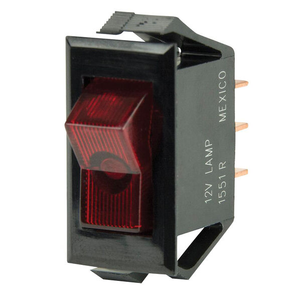 BEP SPST Rocker Switch, Off/On, Illuminated