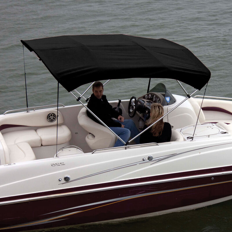 """Shademate Polyester 4-Bow Bimini Top, 8'L x 54""""H, 79""""-84"""" Wide image number 3"""