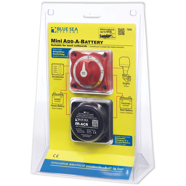 Blue Sea Systems Mini Add-A-Battery Kit, 65 Amps
