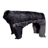 Touchdog Quantum-Ice Full-Bodied Adjustable and 3M Reflective Dog Jacket w/ Blackshark Technology, Black-Grey X-Small