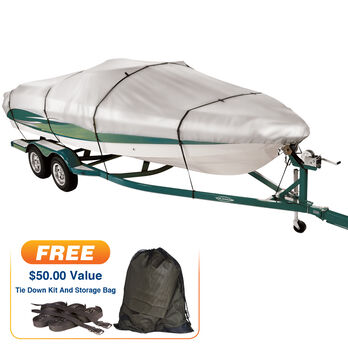 """Covermate Imperial 300 Tri-Hull Outboard Boat Cover, 18'5"""" max. length"""