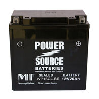 Power Source Sealed Battery, WP16CL-BS, 12V 20Ah
