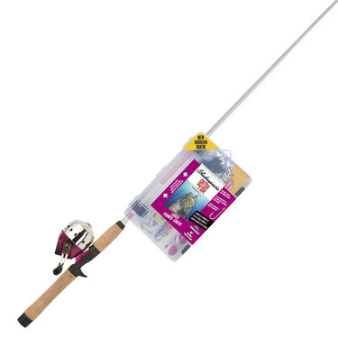 Shakespeare Catch More Fish Ladies' Spincast Rod And Reel Combo