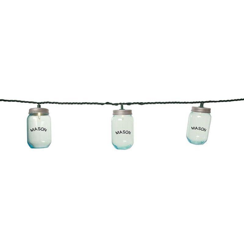 """10 Mini Mason Jar Lights, 7'8"""" image number 1"""