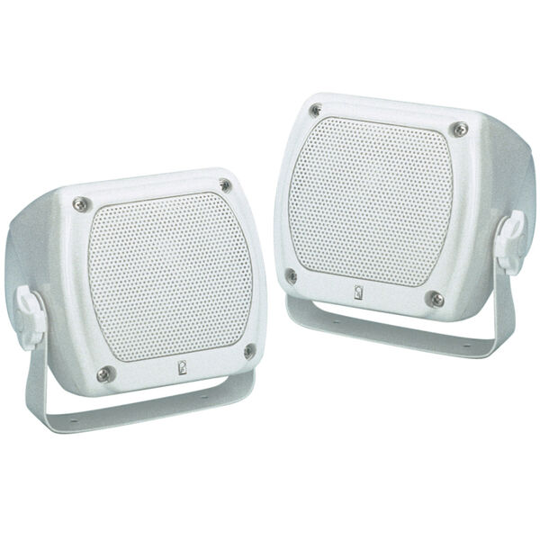 """Poly-Planar MA840 Sub-Compact 3"""" Dual Cone Box Speakers, Pair"""