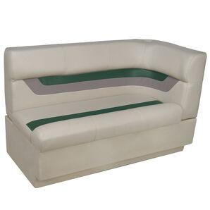 Toonmate Designer Pontoon Left-Side Corner Couch - TOP ONLY - Platinum/Evergreen/Mocha