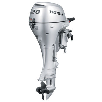"Honda BF20 Portable Outboard Motor, Manual Start, 20 HP, 20"" Shaft"
