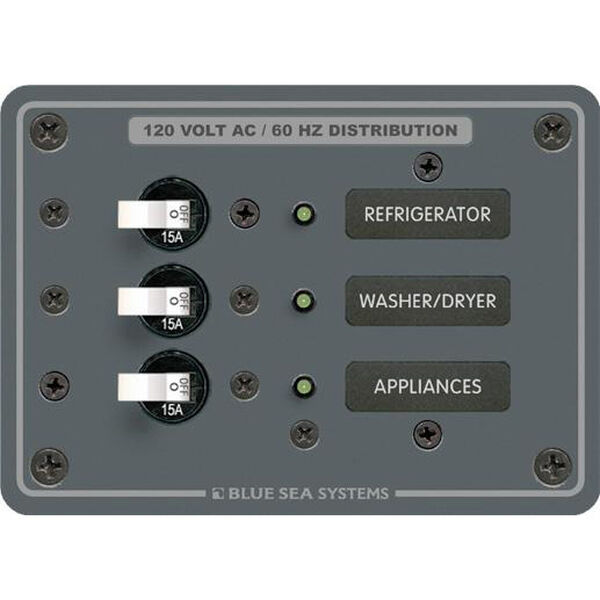 Blue Sea 120V AC Branch Circuit Breaker Panel - 3 Positions