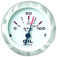 """Sierra Lido 2"""" Oil Pressure Gauge, 0-100 PSI"""