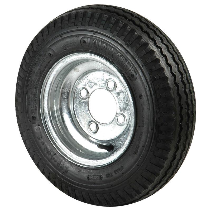 Kenda Loadstar 4.80 x 8 Bias Trailer Tire w/4-Lug Standard Galvanized Rim image number 1