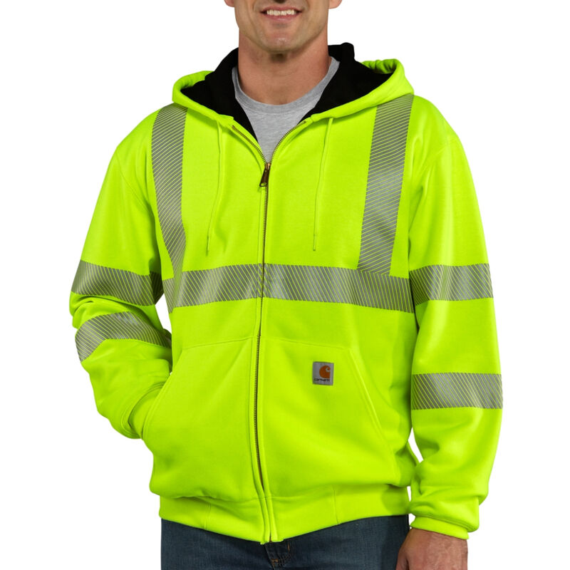 Carhartt Men's High-Visibility Zip-Front Class 3 Thermal-Lined Sweatshirt image number 2