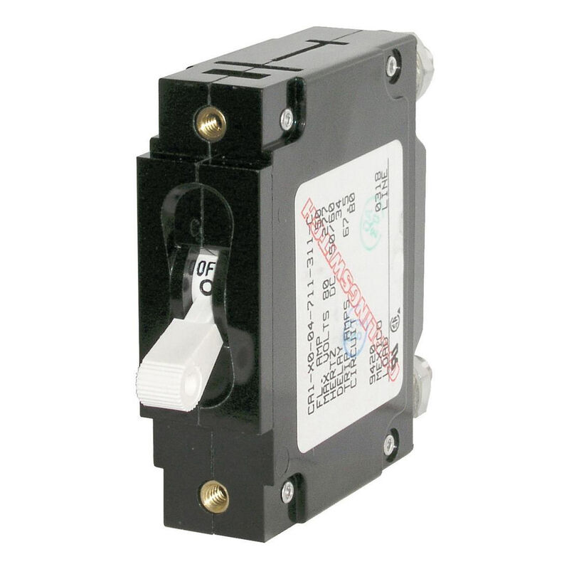 Blue Sea Circuit Breaker C-Series Toggle Switch, Single Pole, 5A, White image number 1