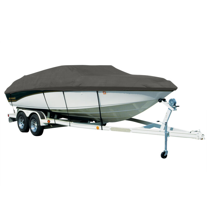 Covermate Sharkskin Plus Exact-Fit Cover for Bayliner Discovery 215 Discovery 215 W/Factory Bimini Cutouts Doesn't Cover Platform I/O image number 4
