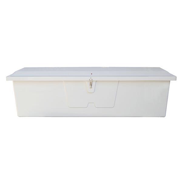 "Stow 'N Go Fiberglass Dock Box White Large Standard (24""H x 85""W x 22""D)"