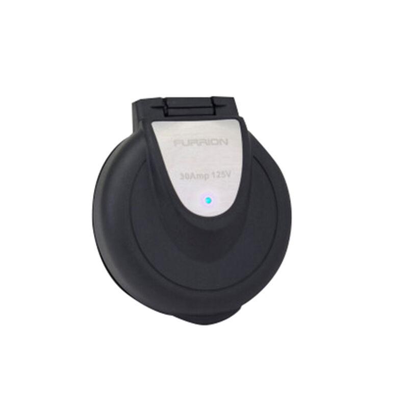 Furrion 30 Amp Round Power Inlet, 125V, Black image number 1