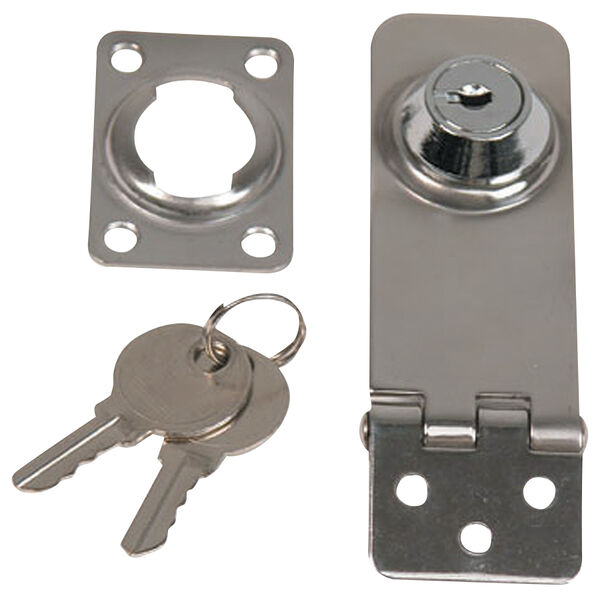 "Whitecap Stainless Steel Locking Hasp, 1"" x 3"""