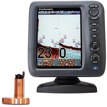 Furuno FCV587 Color Fishfinder With Thru-Hull Triducer And Fairing Block