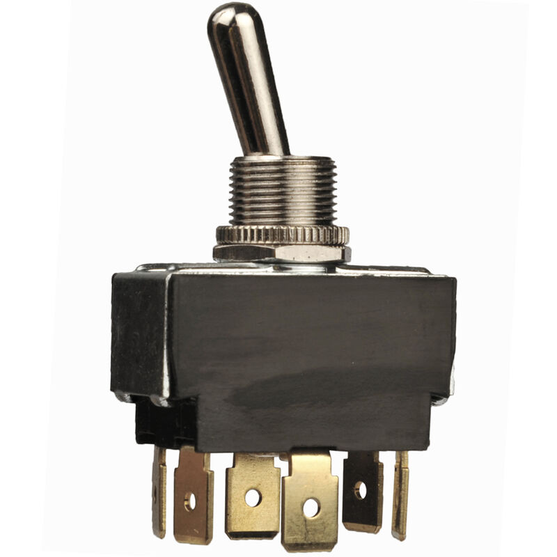 Sierra Heavy-Duty 25-Amp Toggle Switch, On-Off-On DPDT, Sierra Part No. TG22020 image number 1