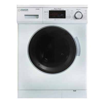 Equator Combo Washer/Dryer, White (Vented/Ventless) with Winterize and Quiet Feature, EZ 4400N WHITE