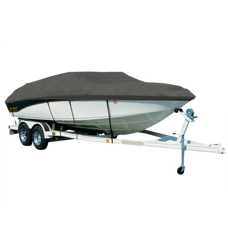 Covermate Sharkskin Plus Exact-Fit Cover for Chaparral 244 Sunesta 244 Sunesta W/Bimini Laid Aft On Support Struts image number 4