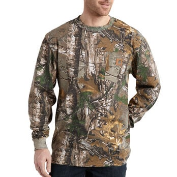 Carhartt Men's Realtree Xtra Long-Sleeve Pocket Tee